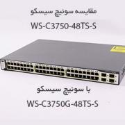 مقایسه سوئیچ سیسکو WS-C3750-48TS-S با سوئیچ سیسکو WS-C3750G-48TS-S
