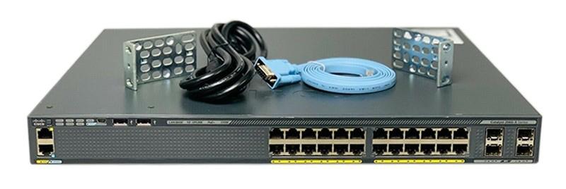 قیمت سوئیچ سیسکو WS-C2960X-24PS-L سوییچ شبکه POE پنل جلو اکسسوری نمایندگی سیسکو